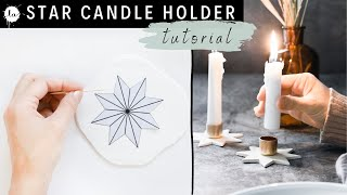 DIY Star Candle Holder From Polymer Clay  ( Tutorial )