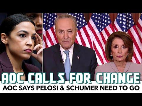 AOC Says Pelosi & Schumer Need To Go