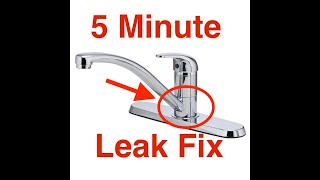 Kitchen Faucet Leaks At The Base. Easy 5 Min Fix