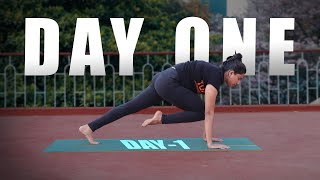 Day 1 Of 21 Days Yoga Practice |