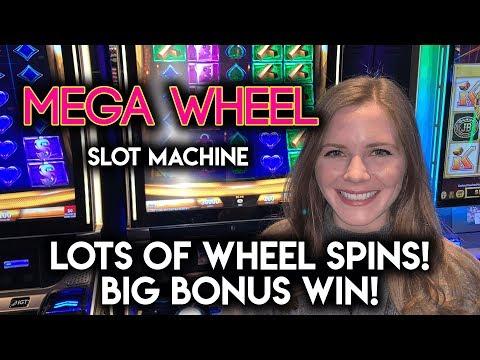 MEGA WIN! MEGAWHEEL Slot Machine! BONUS!!