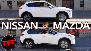 AWD Showdown! Does The New 2021 Nissan Rogue Outgun The Mazda CX-5 In The TFL Slip Test? by The Fast Lane Car
