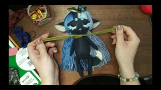 Making A Blueberry Themed Felt Doll Timelapse Archive #014 Pine Needle Tea #selfquarantine #crafts