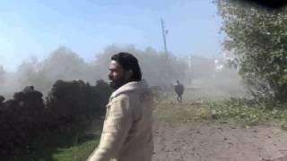 preview picture of video 'مدينة نوى || غارات الطيران الحربي وسط رعب بين اهالي المدينة 30 11 2014'