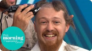 Three Cancer Fundraisers Shave Their Heads Live On TV | This Morning
