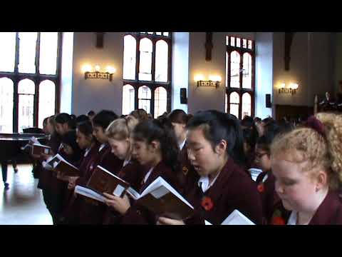 Girls' Division Service of Remembrance 2017