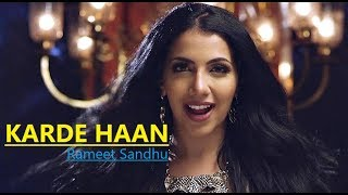 KARDE HAAN | Rameet Sandhu | MNV | New Song | Lyrics