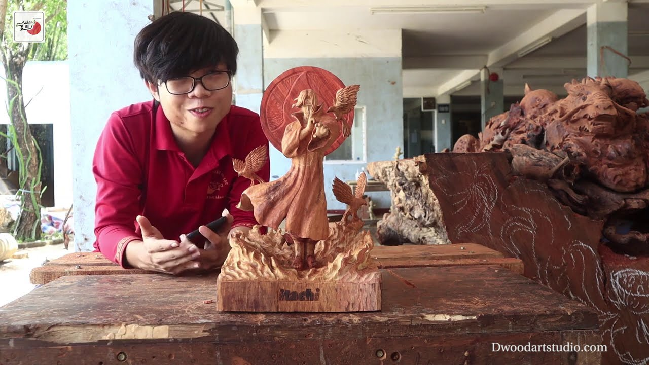 sculpture with wood by nghe nhan au lac