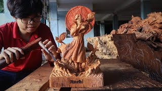 Wood Carving - Naruto: Sculpting ITACHI UCHIHA From A Piece Of Wood.