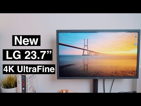 "Hands-On With the New 4K 23.7"" LG UltraFine Display!"