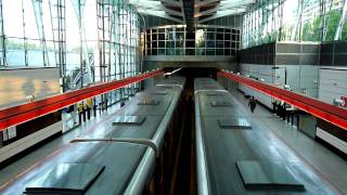 preview picture of video 'Prague Metro, Střížkov station,  line C'
