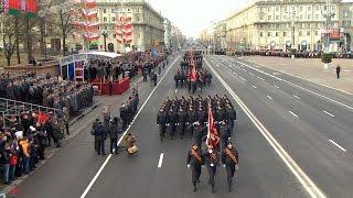 Торжественный марш к 100-летию милиции прошел в Минске