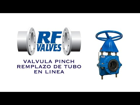 RF VALVES, INC - VALVULA PINCH REMPLAZO DE TUBO EN LINEA