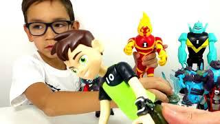 БЕН 10 ВСЕ Игрушки из Мультфильма Бен Тен - new Ben10 toys. Часы Омнитрикс и Фабрика Героев
