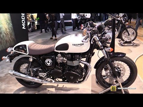 2015 Triumph Thruxton 900 ACE - Walkaround - 2014 EICMA Milan Motorcycle Exhibition