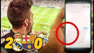 ROMPO LA PANTALLA DEL MÓVIL   Real Madrid 2-0 Barcelona SUPERCOPA