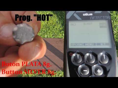 Pruebas ID y SONIDO de PLATA - ORO con  XP Deus V.4.1