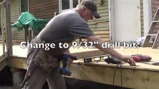 DIY Deck Part 11 - Attaching Railing Posts