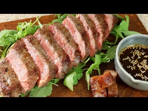 "JAPANESE ""BBQ"" SAUCE RECIPE ""YAKINIKU TARE"" WITH 30 DAY DRY AGED SIRLOIN BEEF STEAK –  自家製焼肉のたれ"