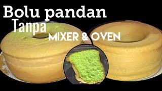 Gambar cover Resep Bolu Pandan Lembut Tanpa Mixer & Oven