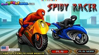 Spiderman Game Spidy Racer Spider-Man Sandman and Black Spiderman Race Game