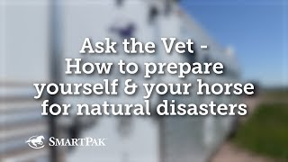 Ask the Vet - How to prepare yourself and your horse for natural disasters