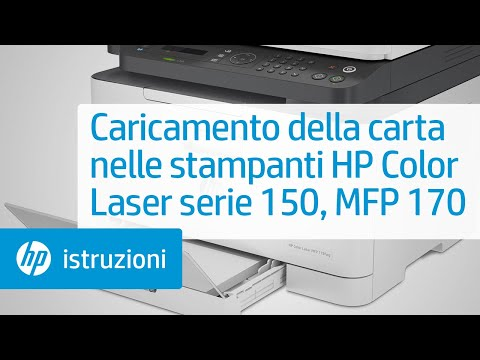 Caricamento della carta nelle stampanti HP Color Laser serie 150 e MFP 170