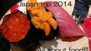 preview picture of video 'Japan trip: cheap & tasty foods, Ramen, sweets, Sushi train 日本・東京旅行 安い食べ物'