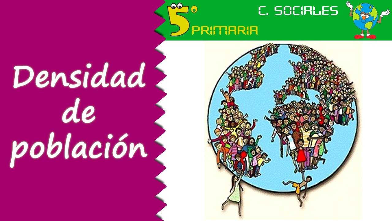 Densidad de población. Sociales, 5º Primaria. Tema 6