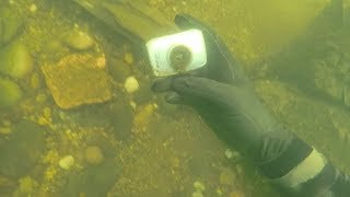 I Found a Camera Underwater in River While Scuba Diving! (Does it Still Work??) | DALLMYD
