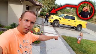 Pumpkin Patch Hacker Spy Caught on Camera Breaking Into Our House!