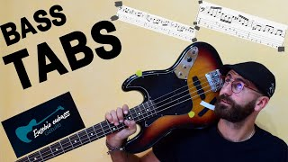 The Cranberries   All Over Now BASS COVER + TAB + SCORE