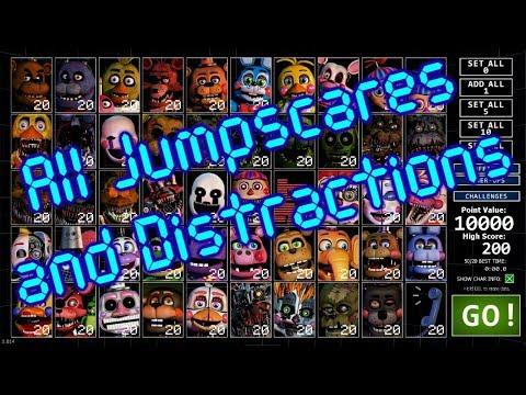 FNAF – Ultimate Custom Night – Dee Dee's Animatronics – Jumpscares +