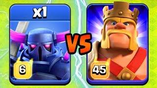 MAX KING vs MAX PEKKA!  NEW UPDATE BATTLE!!  Clash of Clans