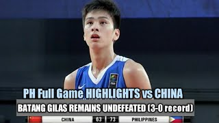 Batang Gilas PH Full Game Highlights Vs China (U18 Asian Championships) 08.07.18