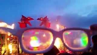 Defqon.1 Australia 2014: Mainstage Flames - Diffraction Glasses