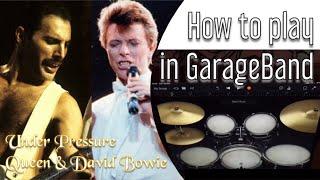 How to Play Queen & David Bowie - Under Pressure using iPad GarageBand