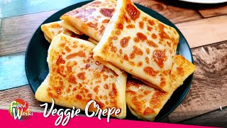 Veggie Crepe | Easy And Tasty Snack Recipe | Spicy Vegetable Crepe For Breakfast | Foodworks