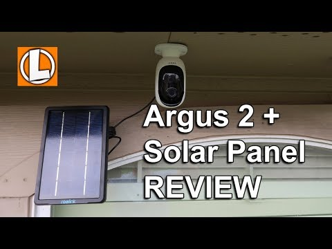 Reolink Argus 2 Review Wire Free Camera + Solar - Unboxing, Setup, Settings, Installation, Footage