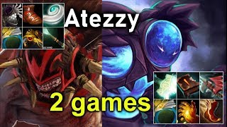 Atezzy [Bloodseeker] Insane Game 1 And Destroy Mid Lane Game 2 with  [Arc Warden ]
