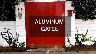 Aluminum Gate | Mulholland Security Los Angeles 1.800.562.5770