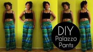 DIY PALAZZO PANTS IN 20MIN   NO SEWING PATTERN   DIY CLOTHES LIFE HACKS