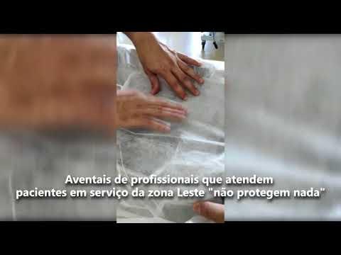 """'Aventais de profissionais que atendem pacientes em serviço da zona Leste """"não protegem nada"""""""