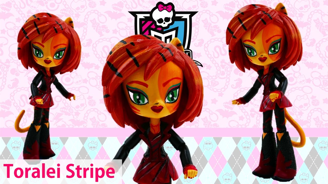 DIY Monster High Toralei Stripe My Little Pony Mini Custom Doll Tutorial | Evies Toy House