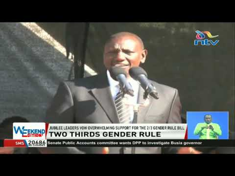 Jubilee leaders vow overwhelming support for the 2/3 gender rule bill