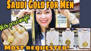 SAUDI GOLD RINGS AT NECKLACE NA 21KARAT FOR MEN SOLID AT LEGIT NA MURA   Rosh Castillo