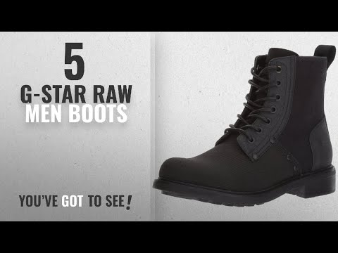 Top 10 G-Star Raw Men Boots [ Winter 2018 ]: G-Star Raw Men's Labour Fashion Boot, Black, 44 N EU