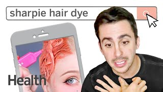 Colorist Jeremy Tardo Reacts to the Sharpie Hair Dye Trend | Heath vs. The Internet | Health