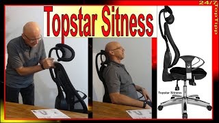 Orthopädischer Bürostuhl und Top Gaming Stuhl [ Kopfstütze nachrüsten ] Topstar Sitness Homeoffice