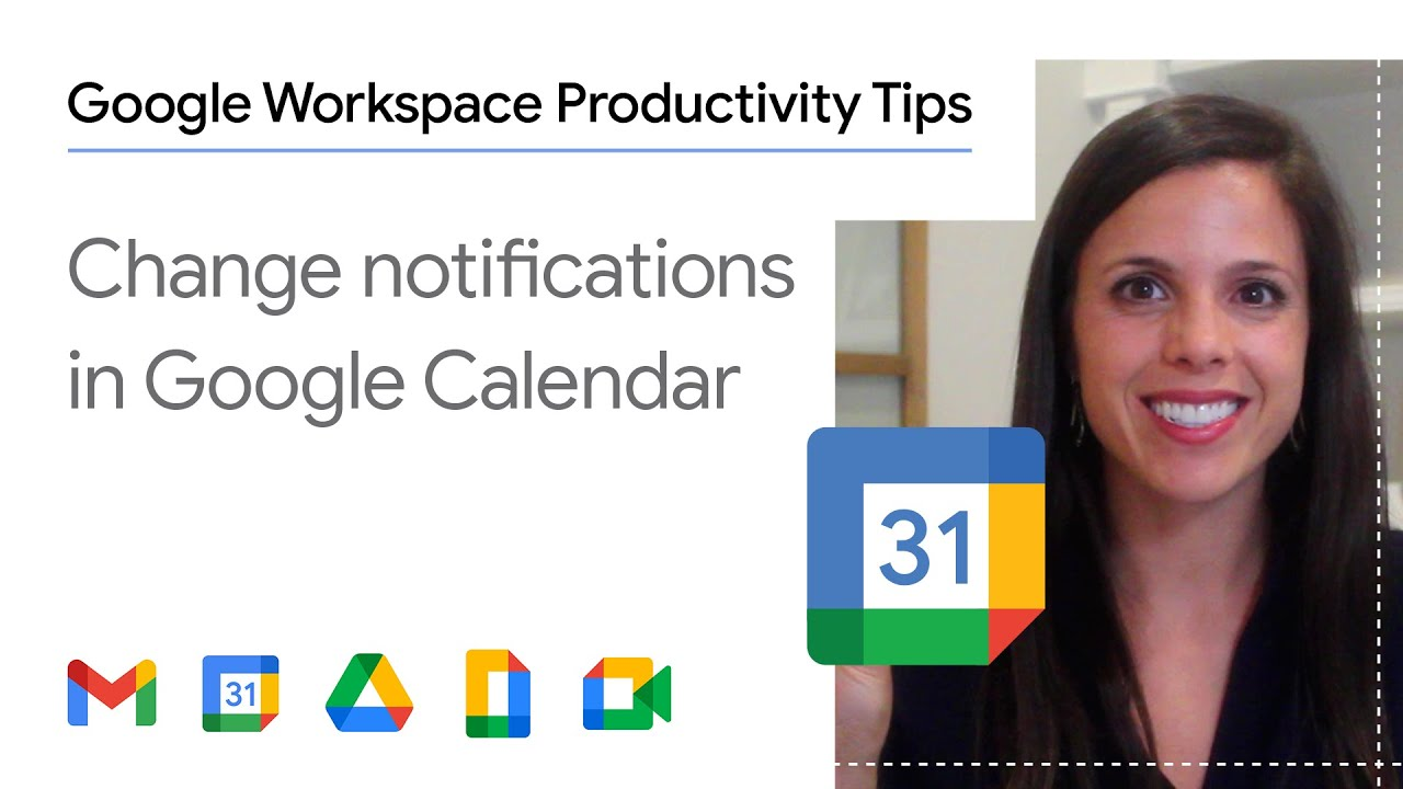Whether you want to be notified five or fifteen minutes before your next meeting, Google Calendar can help you make your meetings on time. In this episode of Google Workspace Productivity Tips, we show you how to change your default event notifications in Google Calendar in one step.